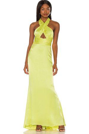 NBD Vestido largo edith en color amarillo, verde talla L en - Yellow,Green. Talla L (también en XXS, XS, S, M, XL).