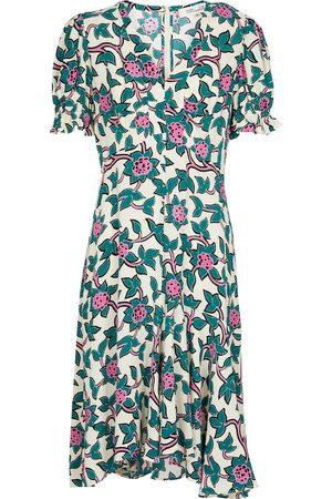 Diane von Furstenberg Mujer Cortos - Alexis printed crêpe minidress