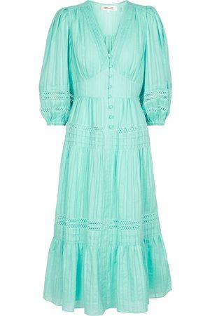 Diane von Furstenberg Camille cotton jacquard midi dress
