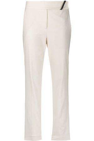 Brunello Cucinelli Pantalones rectos con detalles de latón