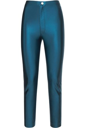 KOCHÉ Pantalones Skinny Fit De Satén Con Cintura Alta