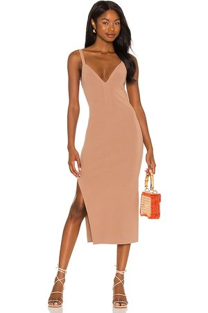 LPA Mujer Vestidos - Vestido blythe en color bronce talla L en - Tan. Talla L (también en XS, S, M, XXS, XL).