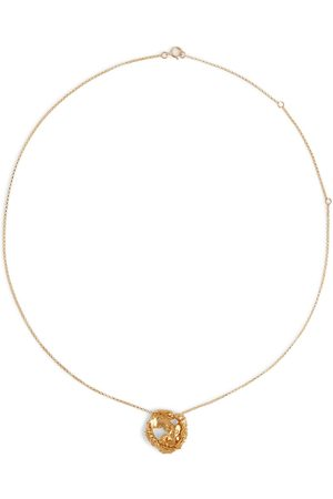 Alighieri Mujer Collares - The Craters We Know 24kt gold-plated necklace