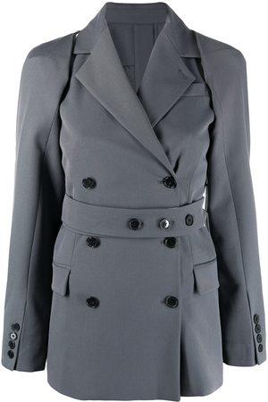 Rokh Mujer Sacos - Blazer con mangas removibles