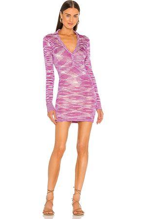 ALEXIS Vestido bara en color morado talla L en - Purple. Talla L (también en XS, S, M).
