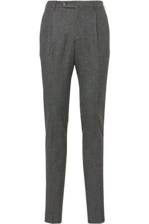 Pantaloni Torino Pantalones Super Slim De Lana Y Seda Stretch