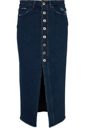 3x1 Button Liz denim pencil skirt