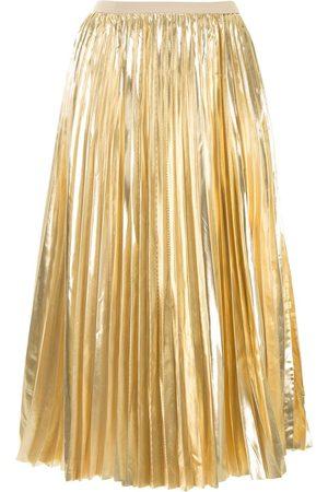 Proenza Schouler Falda plisada metalizada