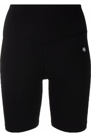 ANINE BING Shorts de ciclismo con logo estampado