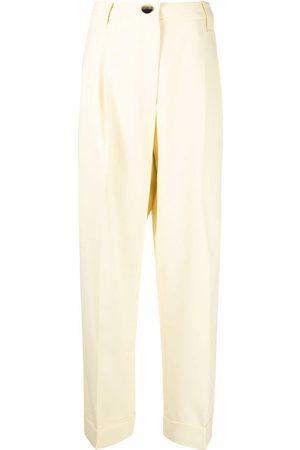 Ganni Pantalones de vestir con tiro alto