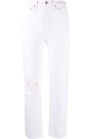 RE/DONE Jeans rectos con efecto envejecido