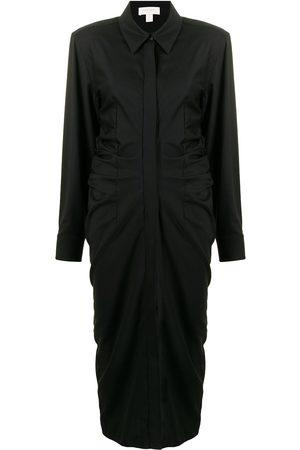 MATÉRIEL by Aleksandre Akhalkatsishvili Vestido camisero con cintura fruncida