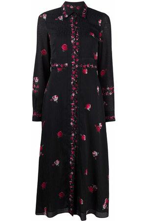 Pinko Vestido camisero con estampado floral