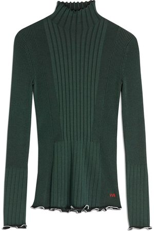 Victoria Victoria Beckham Suéter de canalé con cuello alto