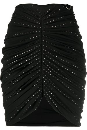 John Richmond Mujer De tubo - Falda con detalles de cristal