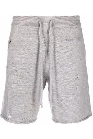 Helmut Lang Hombre Bermudas - Pants con efecto envejecido