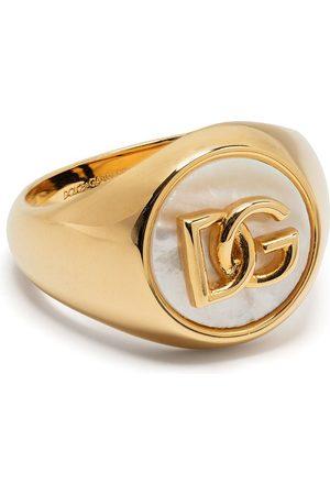 Dolce & Gabbana Anillo con placa del logo