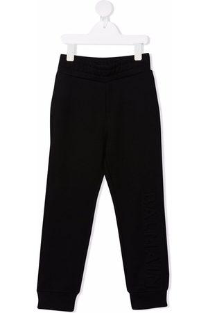 Balmain Kids Pantalones de chándal con logo en relieve