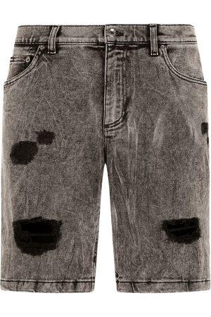 Dolce & Gabbana Shorts de mezclilla con efecto envejecido