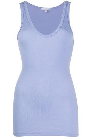 James Perse Mujer Playeras - Camiseta con cuello redondo