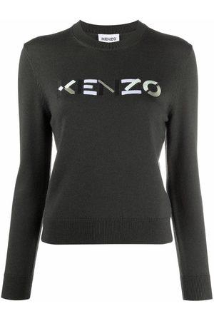 Kenzo Mujer Suéteres - Jersey con logo bordado