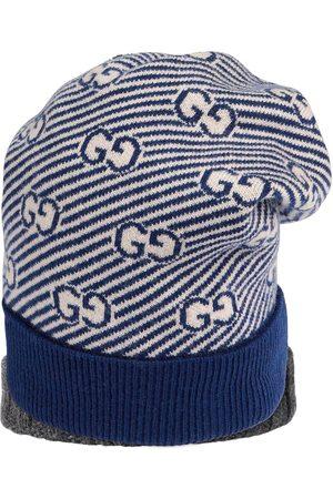 Gucci Kids Niño Gorros - Gorro de tejido en intarsia con motivo GG