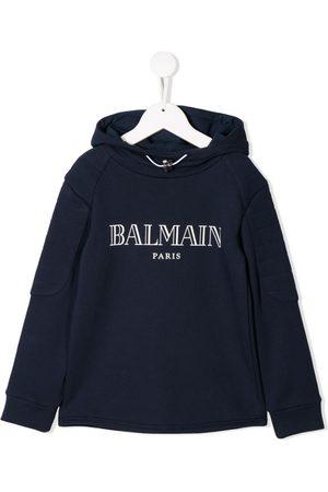 Balmain Kids Sudadera con capucha y logo