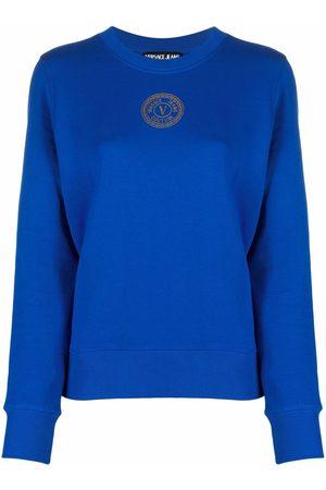 Versace Jeans Couture Sudadera con logo y cuello redondo