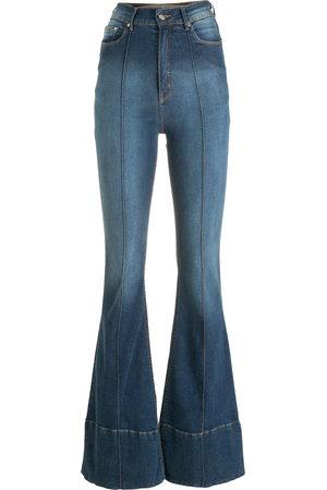 AMAPÔ Mujer Acampanados - Jeans acampanados con tiro alto
