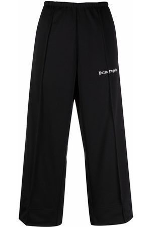 Palm Angels CROPPED TRACK PANTS BLACK WHIT