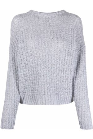 Peserico Mujer Suéteres cerrados - Waffle-knit ribbed-trim jumper