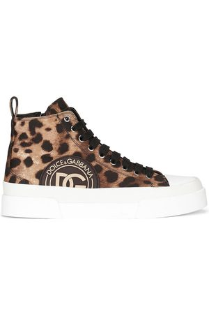 Dolce & Gabbana Mujer Tenis - Tenis con motivo de leopardo