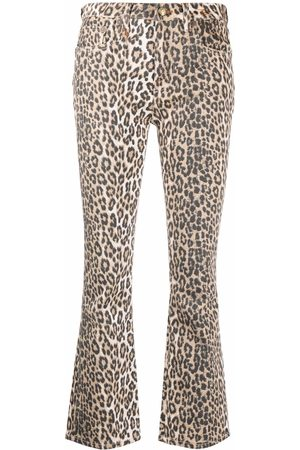 R13 Mid-rise flared jeans