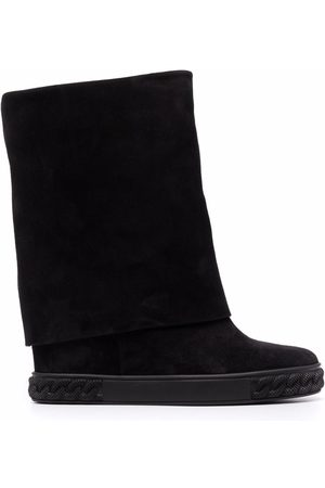 Casadei Leather flat boots