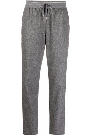 LORENA ANTONIAZZI Pantalones slim con cierre oculto