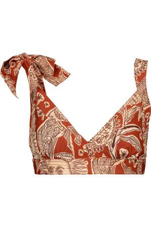 JOHANNA ORTIZ Macondo printed triangle bikini top