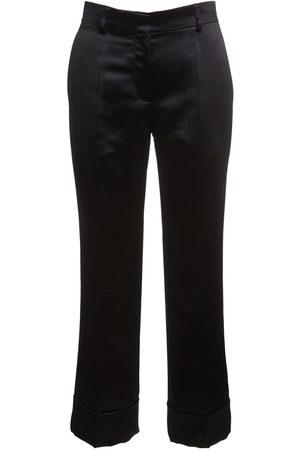 ROCHAS Pantalones Rectos Cropped Duchesse