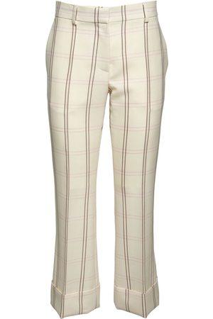 ROCHAS Pantalones Acampanados Cropped De Lana Y Seda