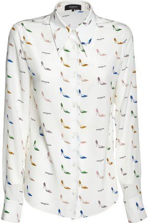 ROCHAS Camisa De Crepé De Seda De China Estampada