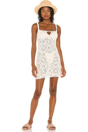 LPA Vestido margaret en color talla L en - White. Talla L (también en XS, S, M).