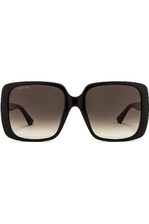 Gucci Gafas de sol logo square en color negro talla all en - Black. Talla all.