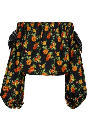 Caroline Constas Mujer Tops strapless - Mason floral off-shoulder top