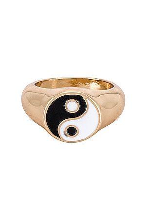 8 Other Reasons Anillo yingyangtwinz en color oro metálico talla all en - Metallic Gold. Talla all.