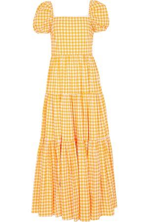 Caroline Constas Hart checked maxi dress