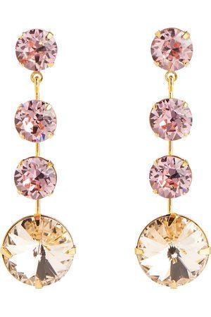 Jennifer Behr Lauryn embellished drop earrings