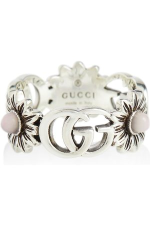 Gucci GG Marmont sterling silver ring with pearls