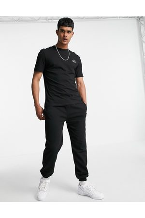 River Island Prolific tee and jogger set in black