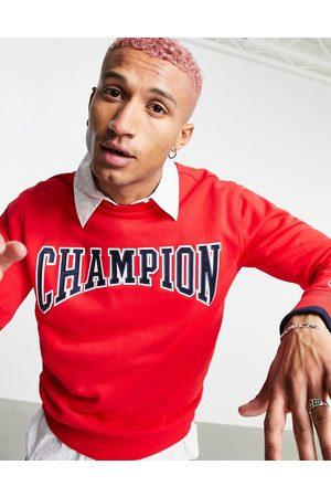 Champion Large collegiate logo sweatshirt in red