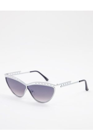 Jeepers Peepers Frame detail sunglasses in silver