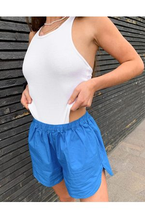 Weekday Adley organic cotton body with racer back in white